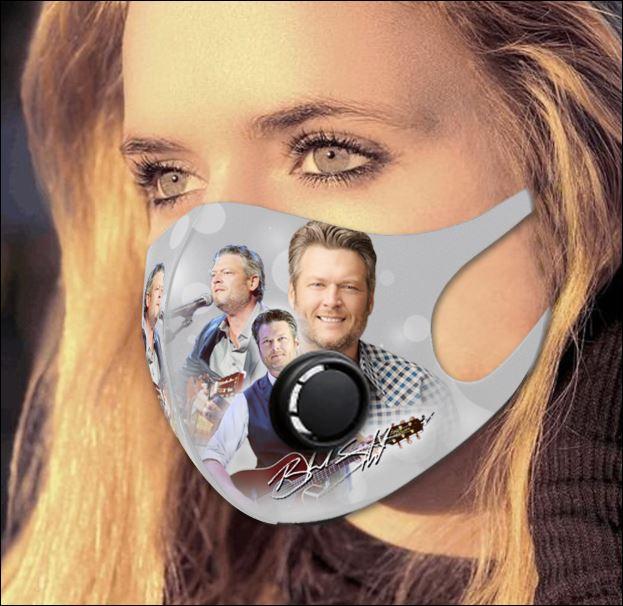 Blake Shelton filter activated carbon face mask