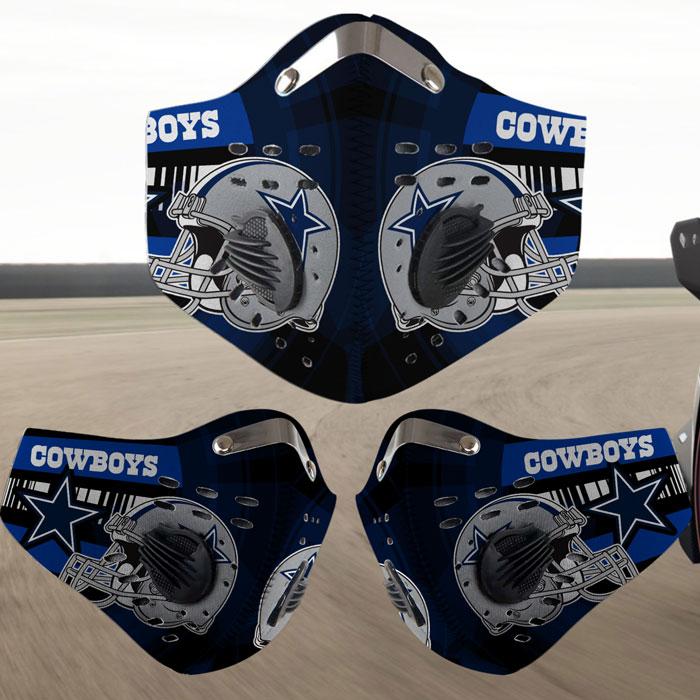 Dallas Cowboys filter face mask - Teasearch3d 120520 ...