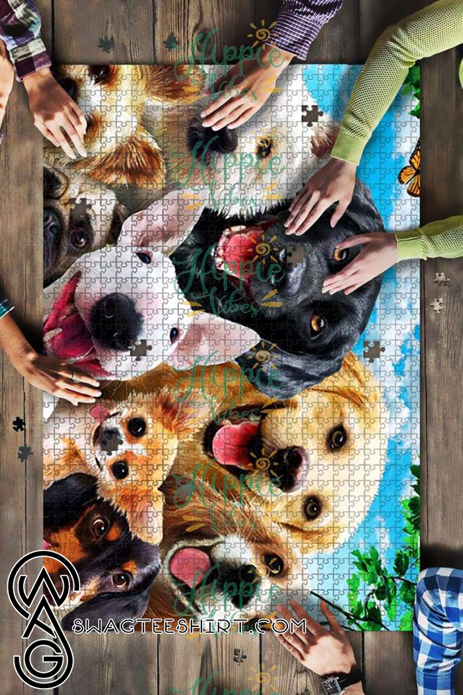 Dogs selfie jigsaw puzzle - maria