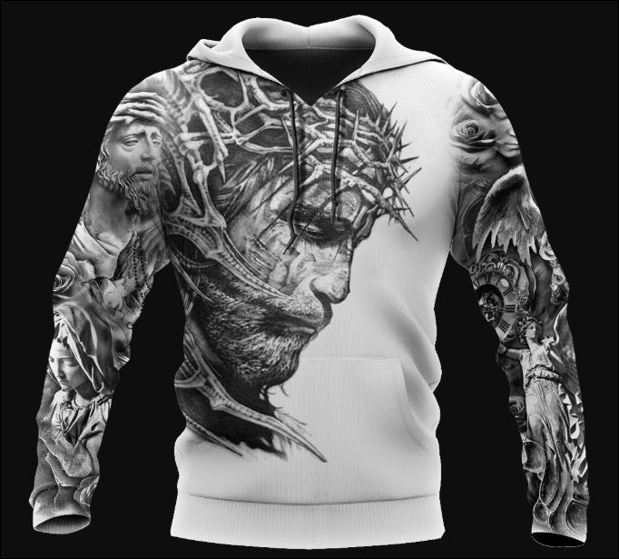 Jesus Tattoo 3D hoodie