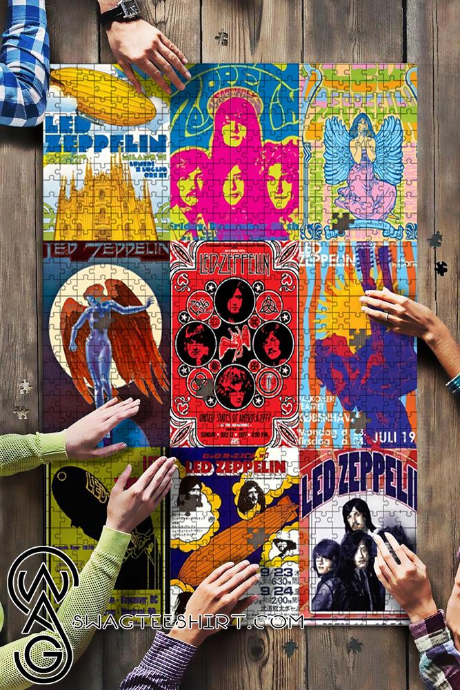 Led Zeppelin Rock Band Jigsaw Puzzle