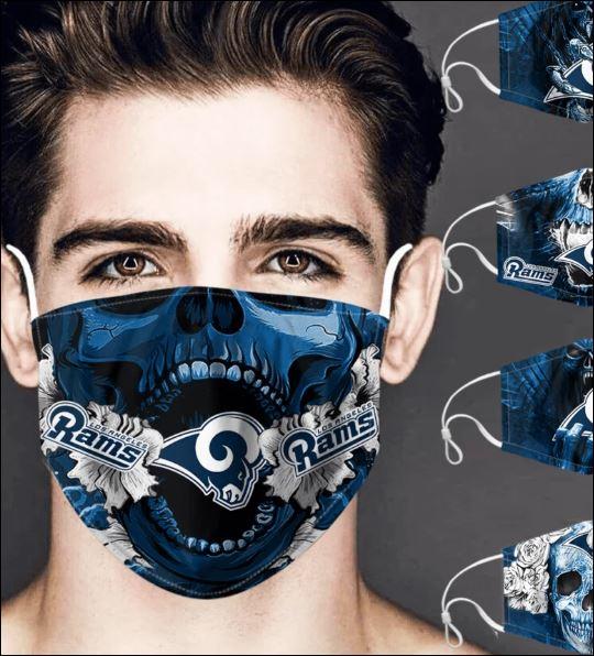 Los Angeles Rams skull face mask