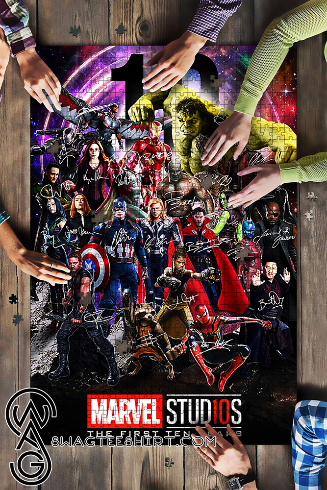 Marvel studios character signatures jigsaw puzzle - maria