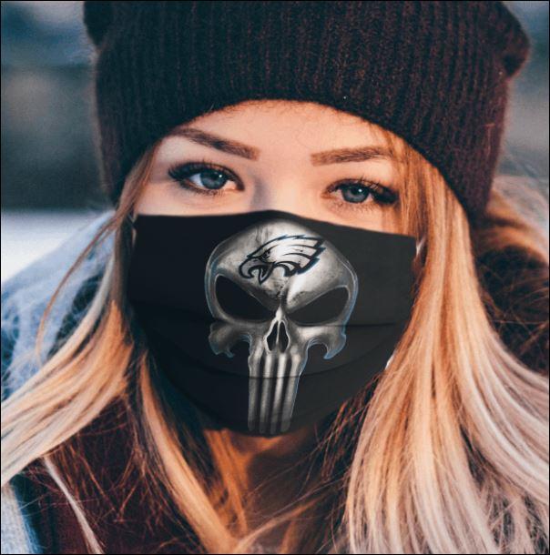 Philadelphia Eagles The Punisher face mask