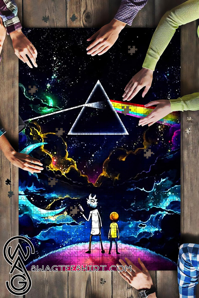 Pink floyd the dark side of the moon rick and morty jigsaw puzzle - maria