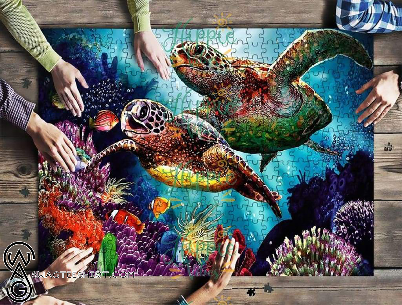 Save sea turtles jigsaw puzzle - maria
