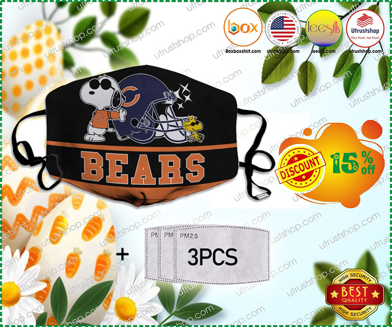 Snoopy Joe Cool Chicago Bears Face Mask - LIMITED EDITION