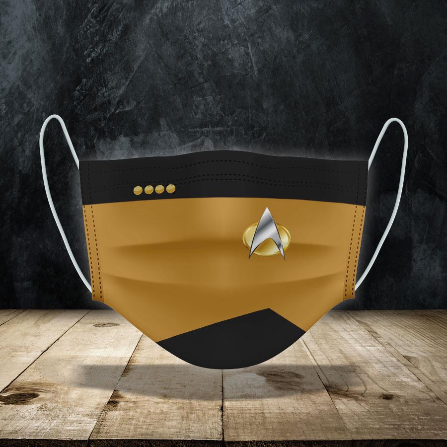 Star Trek Command Face Mask
