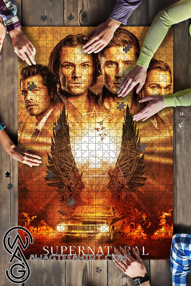 Supernatural tv series jigsaw puzzle - maria
