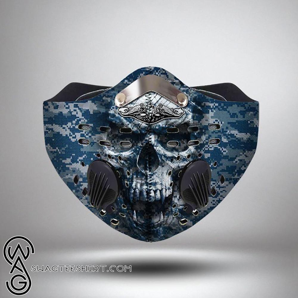 United States Navy Submarine Force Skull Filter Carbon