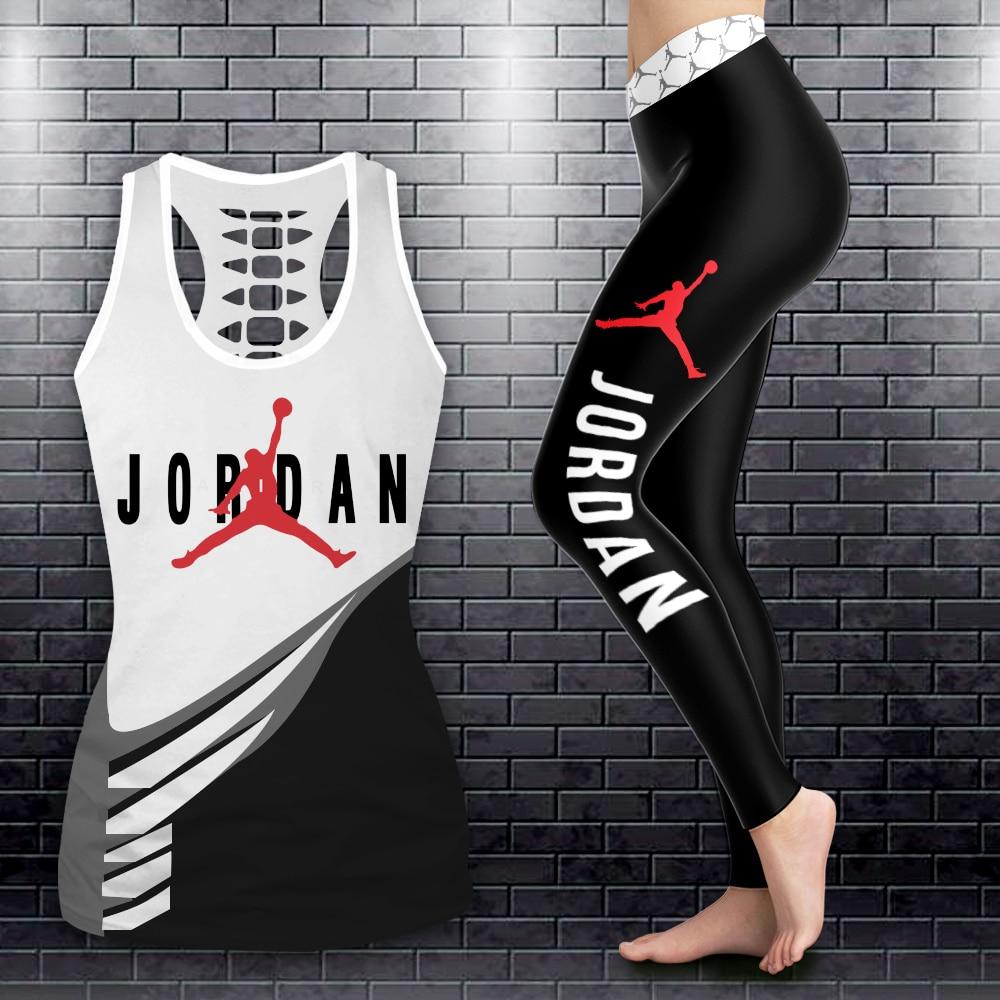 Air jordan legging and hollow tank top pic 2