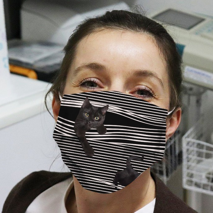 Black Cat Cloth Face Mask