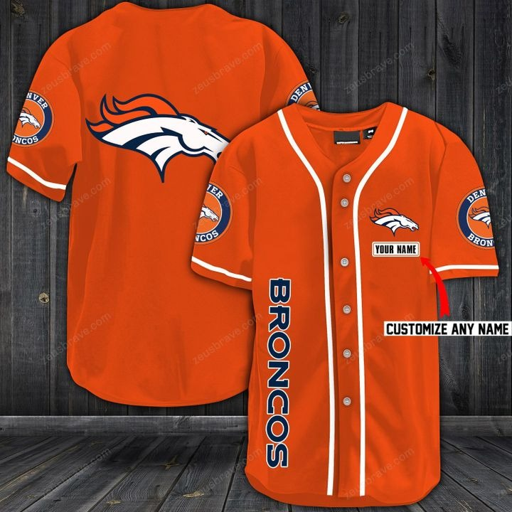 Customize name denver broncos hawaiian shirt - orange