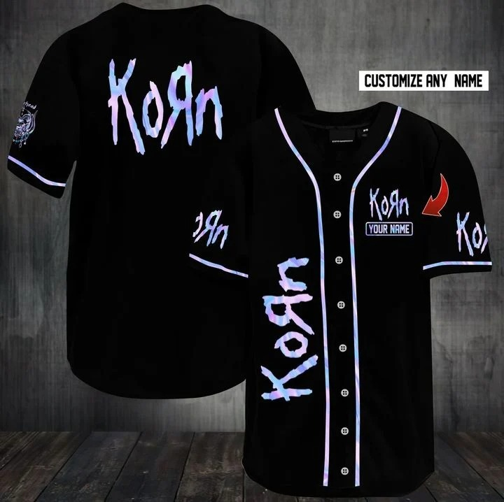 Customize name korn band hawaiian shirt