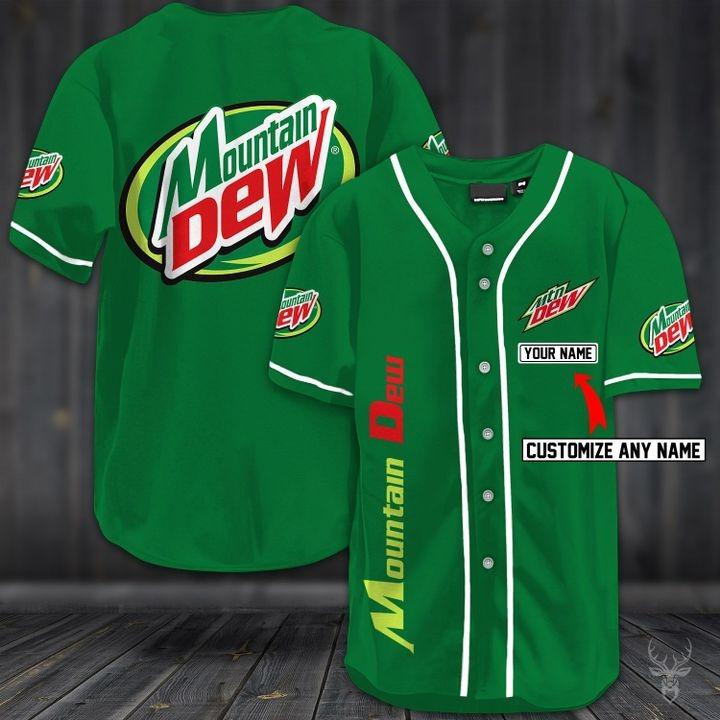 Customize name mountain dew hawaiian shirt - green