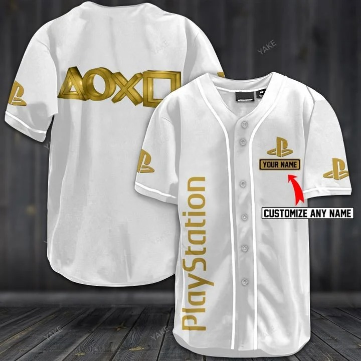Customize name playstation hawaiian shirt - white