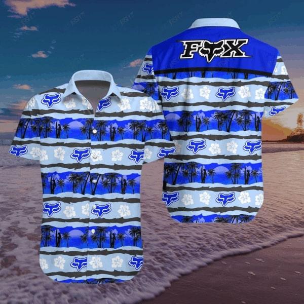 Fox racing motocross all over printed hawaiian shirt - Maria