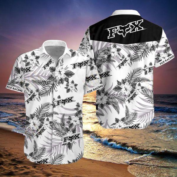 Fox racing motocross flower hawaiian shirt - Maria