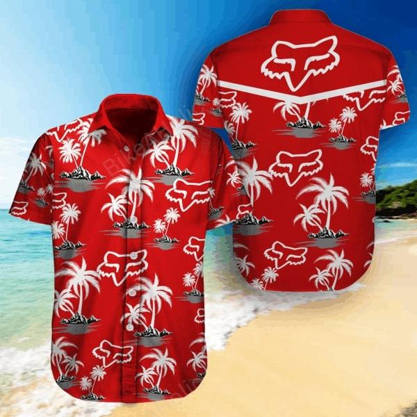 Fox racing sports all over printed hawaiian shirt - Maria