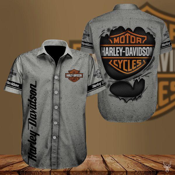 Harley-davidson american motorcycle hawaiian shirt - Maria