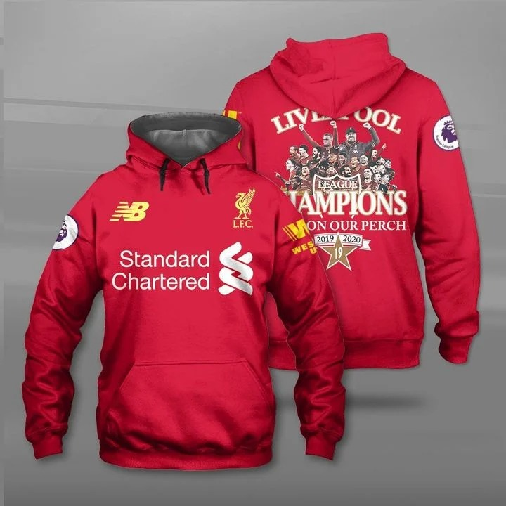 Liverpool player signatures premier champion 2019 2020 3d shirt