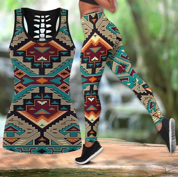 Native american legging and hollow tank top