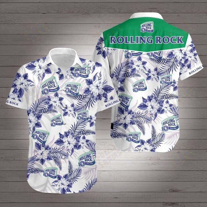 Rolling rock hawaiian 3d shirt