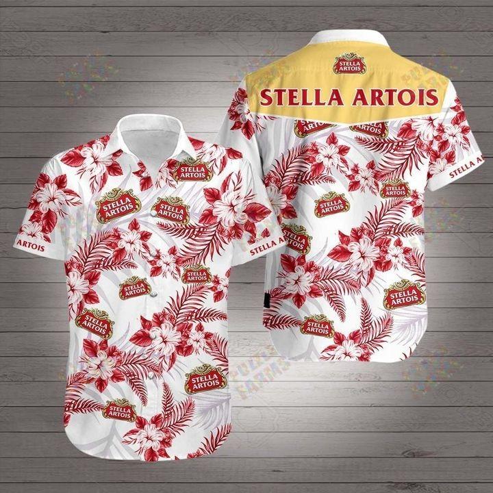 Stella artois hawaiian 3d shirt