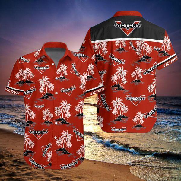 Victory motorcycles hawaiian shirt - Maria