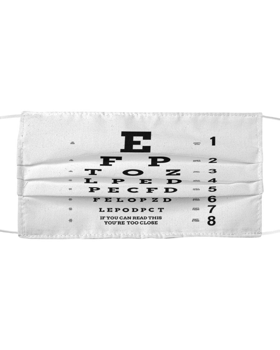 Eye chart close face mask - pic 1