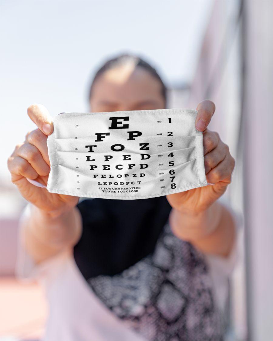 Eye chart close face mask - pic 2