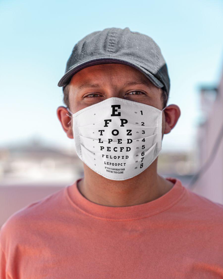 Eye chart close face mask - pic 3