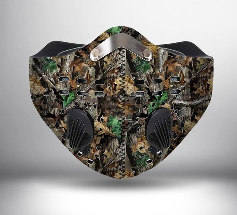 Hunting camo anti pollution filter activated carbon face mask - maria