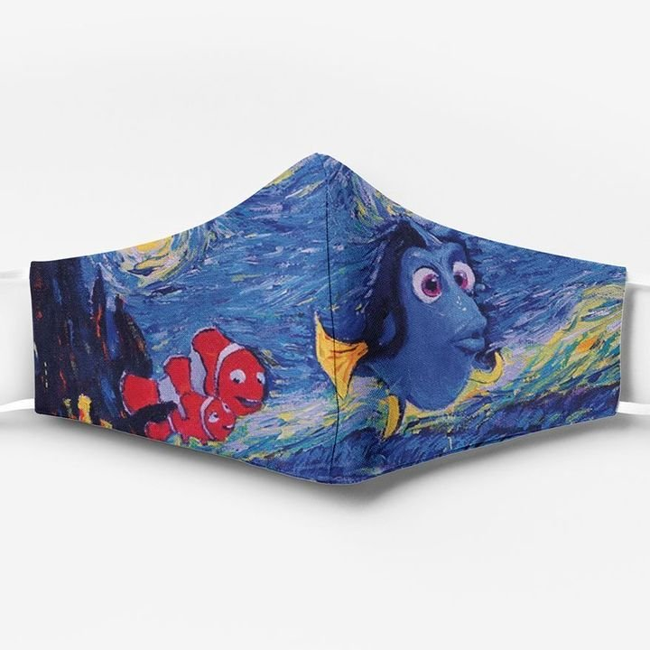 Vincent van gogh starry night dory finding nemo face mask
