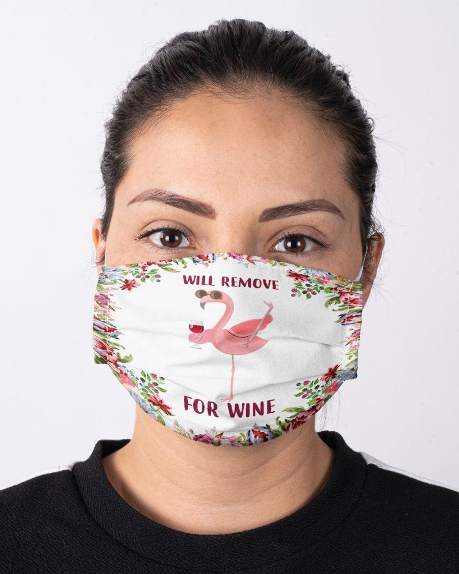 Face mask will remove for wine flamingo
