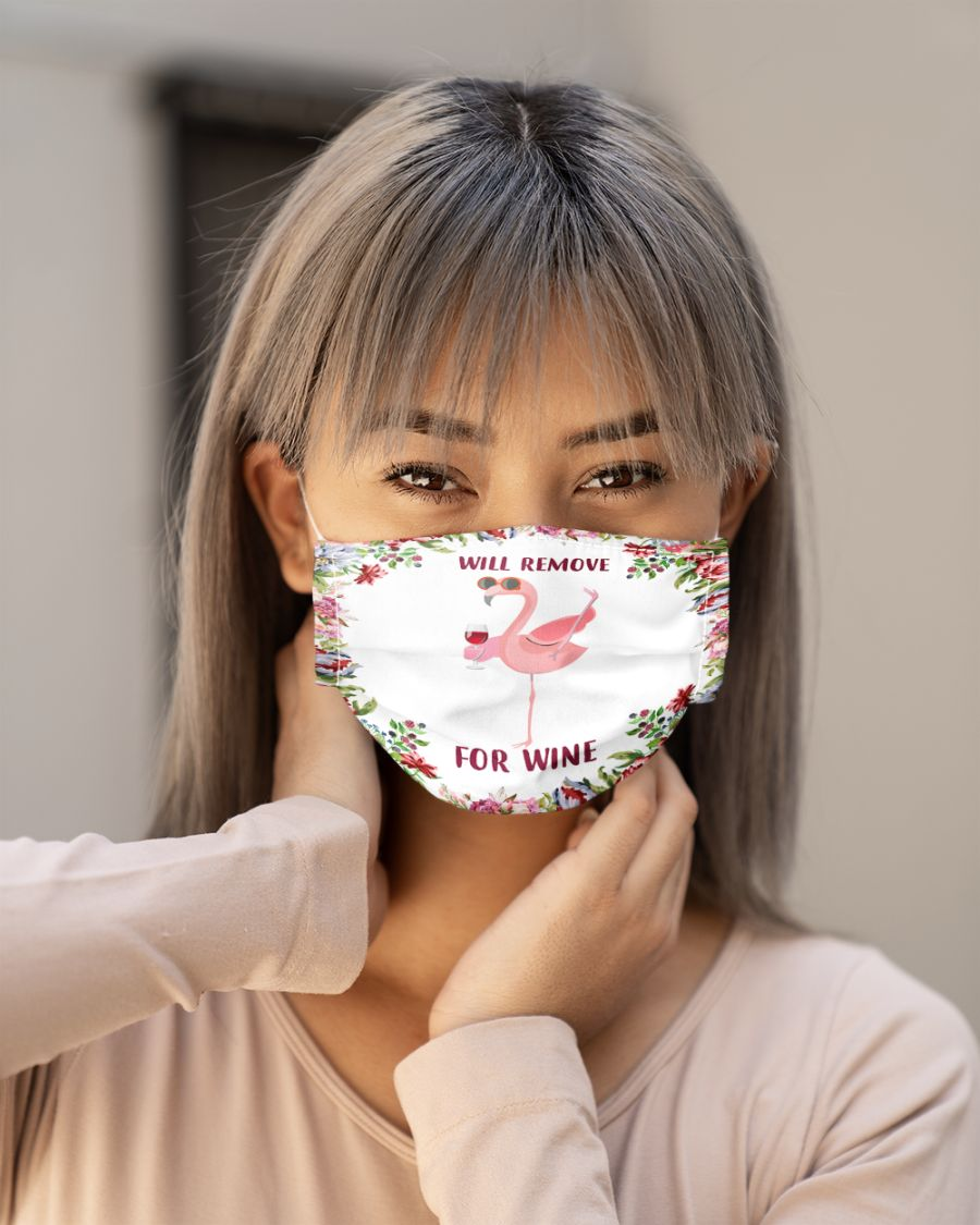 Face mask will remove for wine flamingo - Hothot 300720