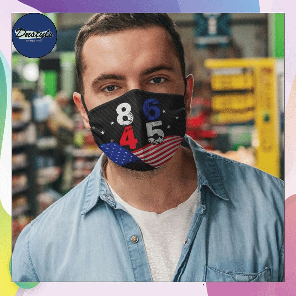 8645 2020 American flag face mask