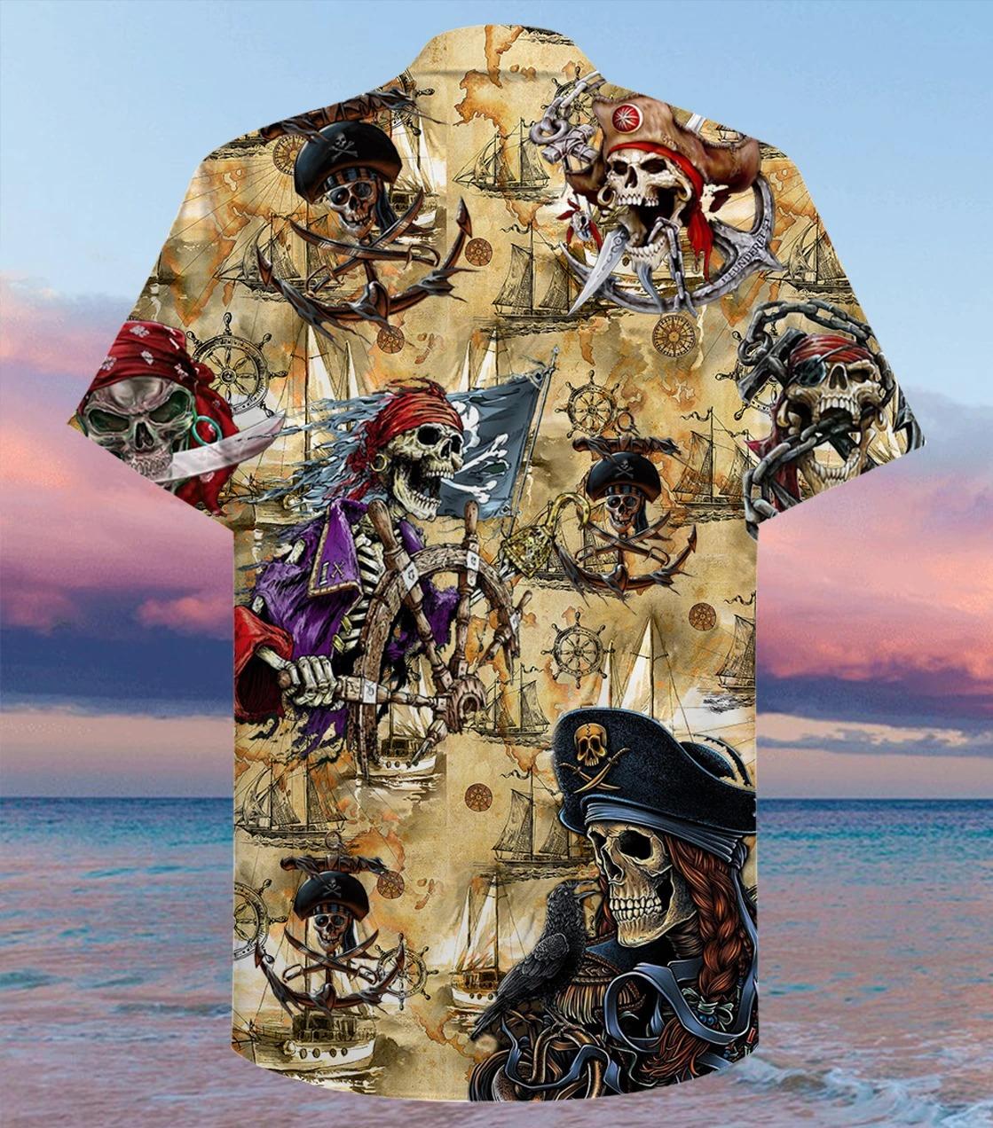 Amazing pirate skull unisex hawaiian shirt - Hothot