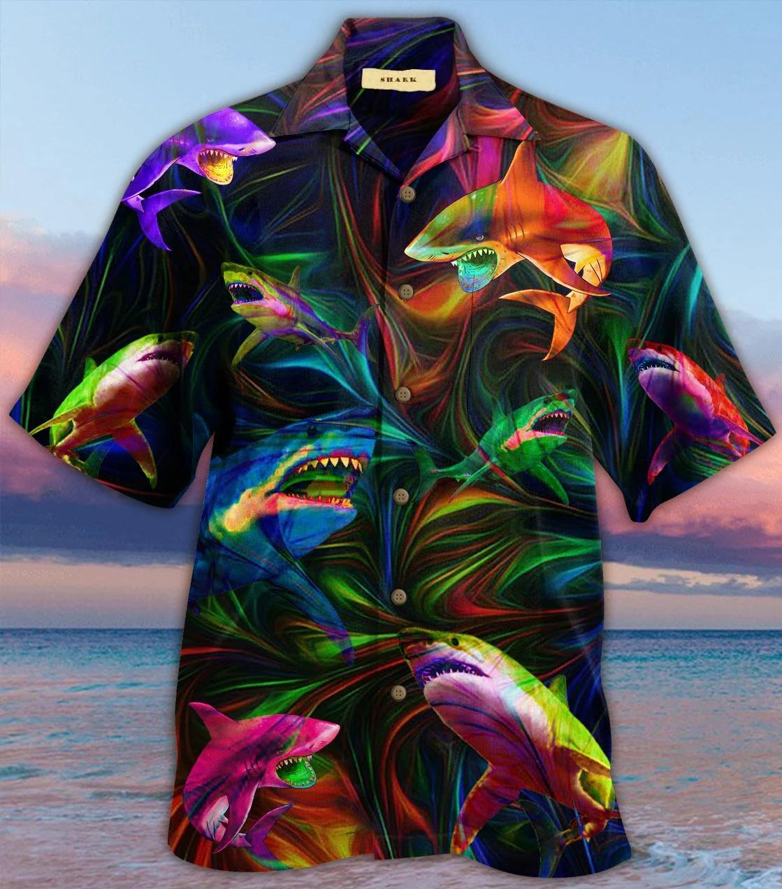 Amazing shark unisex hawaiian shirt 1