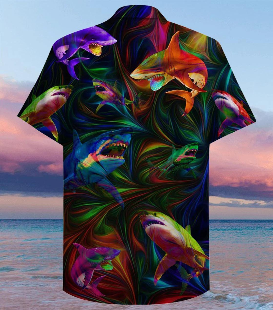 Amazing shark unisex hawaiian shirt - Hothot