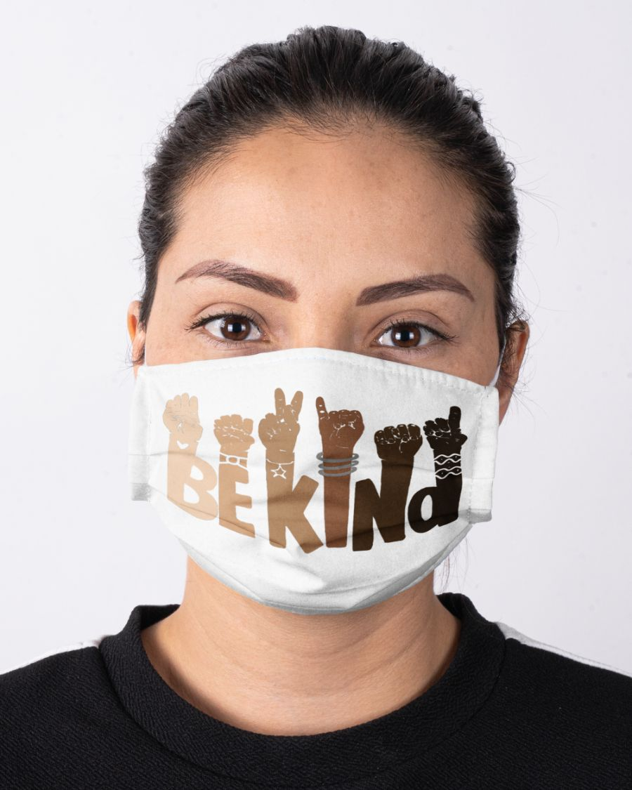Be kind sign language face mask