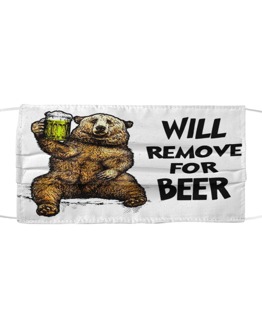 Bear Will Remove For Beer face Mask