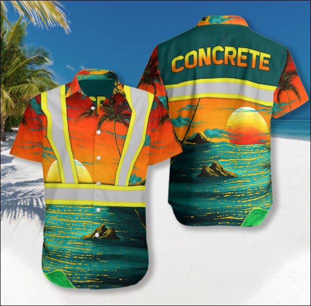 Concrete hawaiian shirt