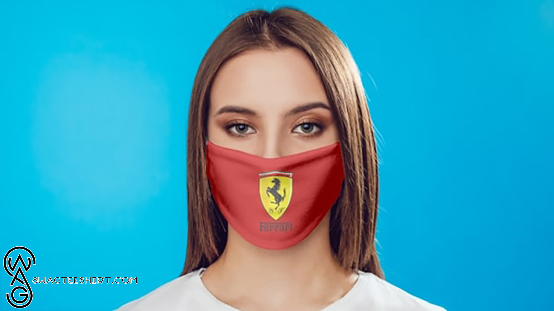 [special edition] Ferrari car logo anti pollution face mask - maria