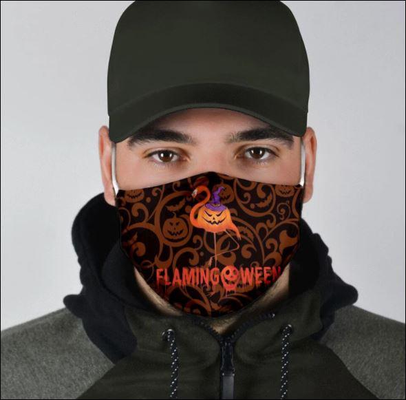 Flamingoween happy halloween face mask