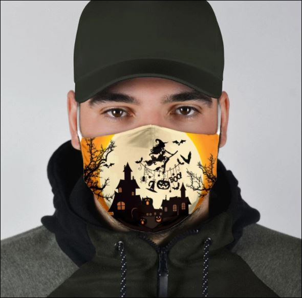 Halloween witch boo face mask