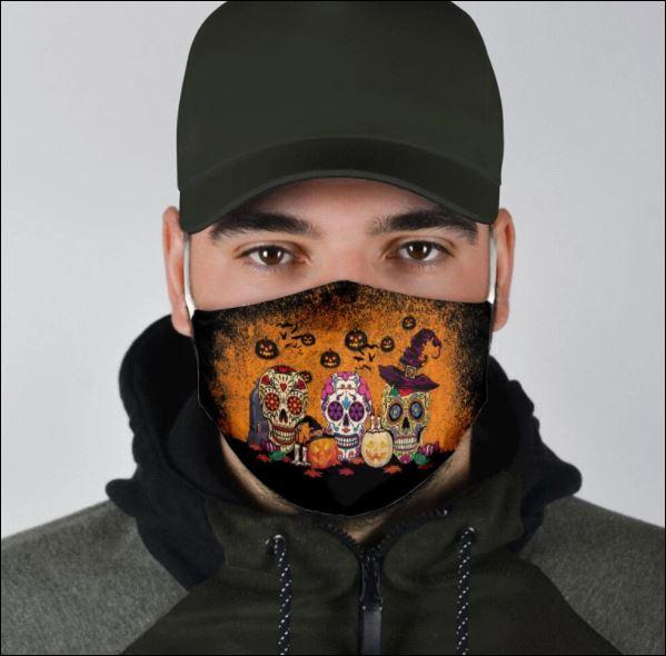 Happy Halloween sugar skull face mask