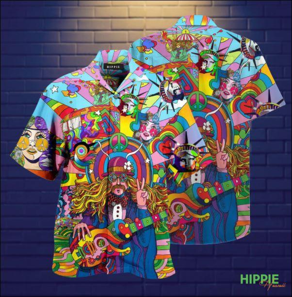 Hippie unisex hawaiian shirt