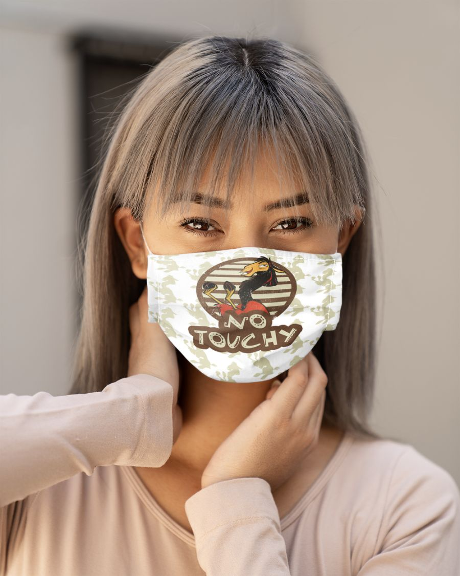 No touchy face mask 1