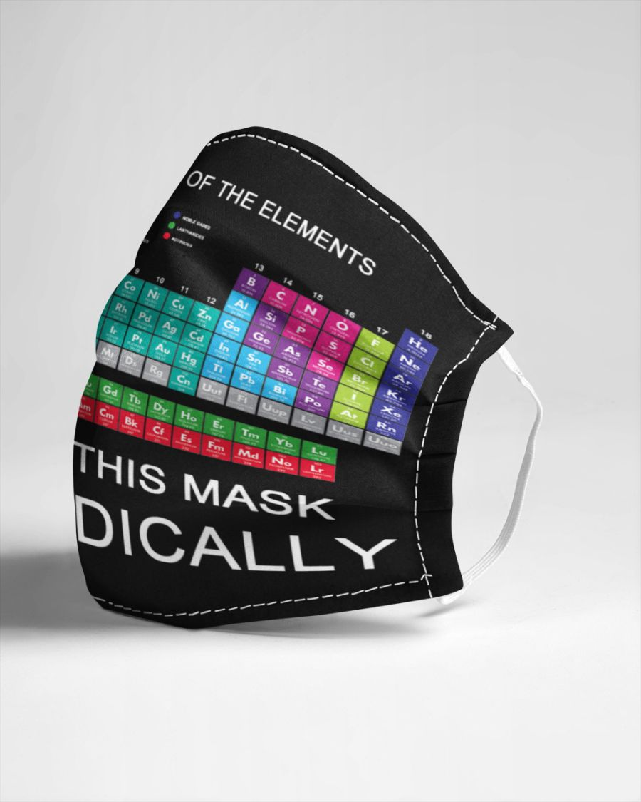 Periodic table of the elements i wear this mask periodically face mask 3